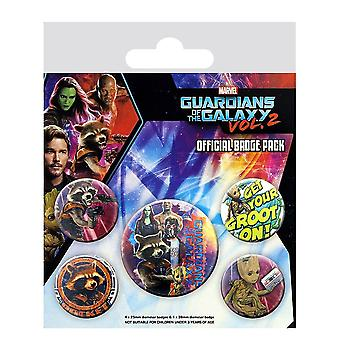 Pack 2 Rocket & Groot badge di guardiani della galassia Vol.