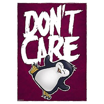 Psycho Penguin Don't Care Mini Affiche