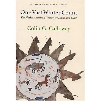 Eine große Winter Count - gebürtigen amerikanischen Westen vor Lewis und Clar