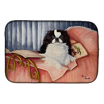 Carolines Treasures  MH1058DDM Japanese Chin Reading in Bed Dish Drying Mat