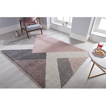 Dakari Zula Multi Pink  Rectangle Rugs Modern Rugs