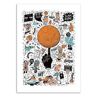 Art-Poster - Pallacanestro - Sarah Matuszewski 50 x 70 cm