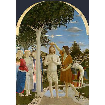 THe Baptism of Christ, Piero della Francesca, 60x42cm