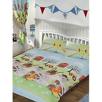 Sunshine Farm Double Duvet Cover and Pillowcase Set