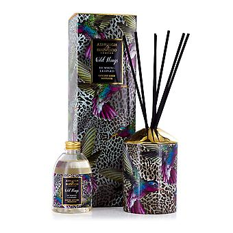 Ashleigh & Burwood Wild Things luksus duftende Reed diffuser Humming Leopard-sort hindbær