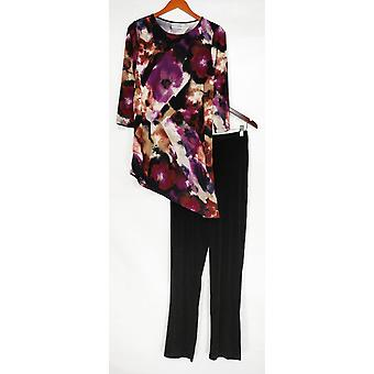Attitudes par Renee Set Radiant Knit Tnic et Pantalon Purple A281097