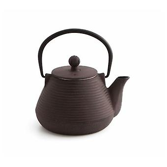 La Bouchée 1L iron teapot with stainless Damascq filter
