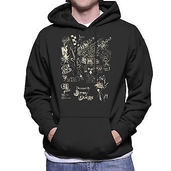 Zits Light Biro Doodles Men's Hooded Sweatshirt