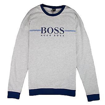 Hugo Boss authentische große Logo Sweatshirt grau