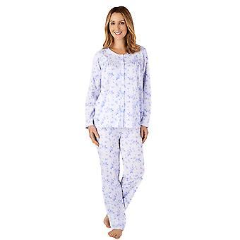 Slenderella PJ4118 naiset ' s Jersey kukka puuvilla pyjama Set