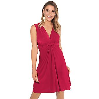 KRISP Ruched Drape Twist Nod Fata Mini Dress Tie Belted Party De vară Casual Beach