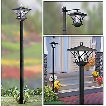 Modern Home Solar LED Street Lamp Post - Outdoor Dual Mode Sun Powered Ambient Light