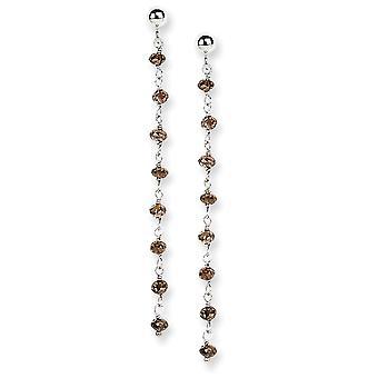 14k Post Earrings Briolette cut Gold Brown Diamond Briolette Earring Jewelry Gifts for Women