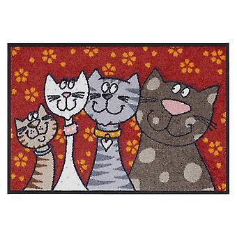 Salon lion washable mat cat family 50 x 75 cm SLD0109-050 x 075