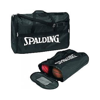 Spalding Basketball Soft Type Nylon 6 Ball Carrier Zipper Compact Bag
