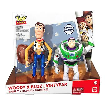 Disney Pixar Toy Story 2in1 Woody & Buzz Lightyear Poseable Action Figure