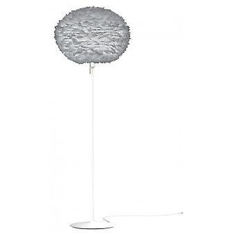 Umage Eos Floor Lamp - Light Grey Feather Eos Large/White Stand