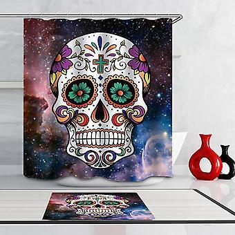 Space Sugar Skull Shower Curtain