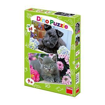 Dino Toys Dog and Cat Motif Jigsaws Puzzle (381377)