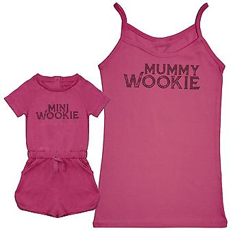 Mini Wookie & Mummy Wookie - Baby Jumpsuit & Mother's Strap Top