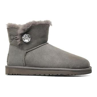 Boot Ugg Mini Bailey Button Bling Gris