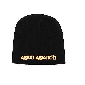 Amon Amarth Beanie Hat Cap Gold band Logo new Official black