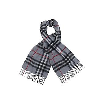 Dobell Mens Grey Check 100% Lambswool Scarf