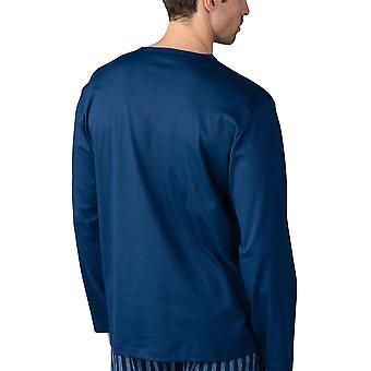 Mey Männer 20720-664 Herren's Lounge Neptune blau Baumwolle Pyjama Top