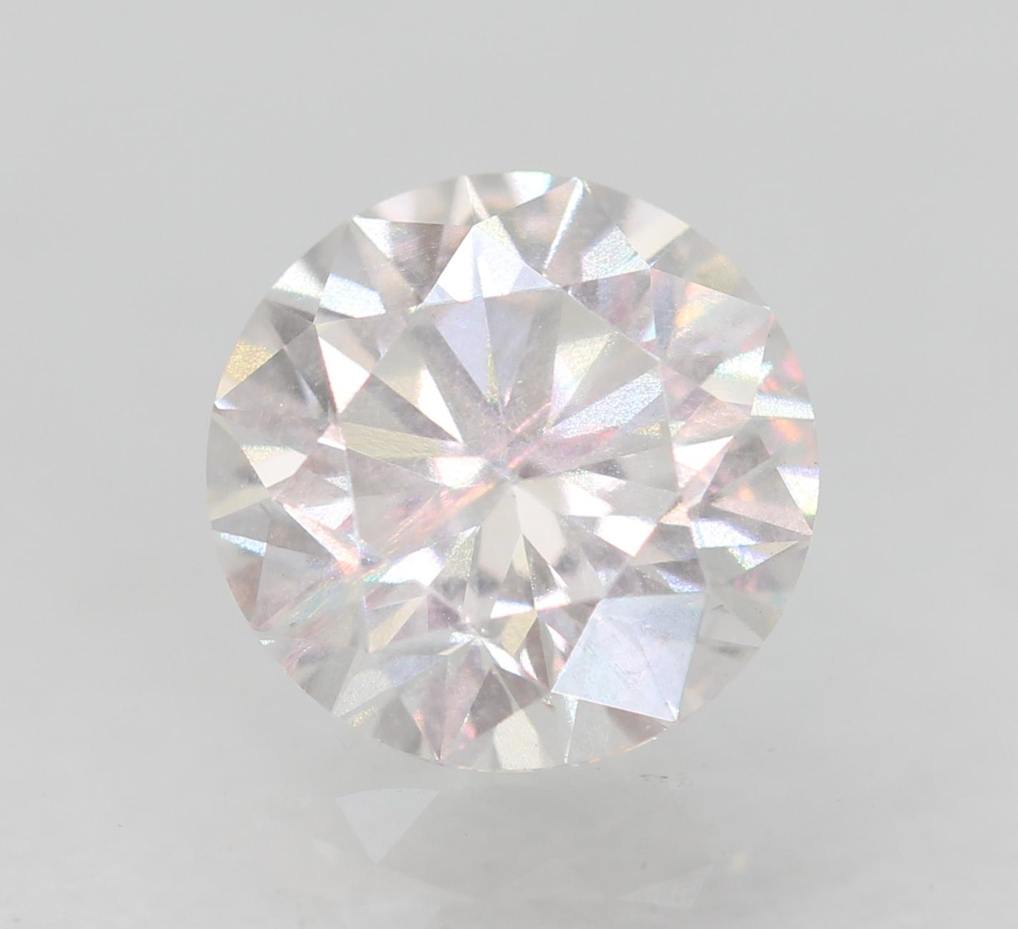 Certified 0.63 Carat D VS2 Round Brilliant Enhanced Natural Diamond 5.45m EX CUT