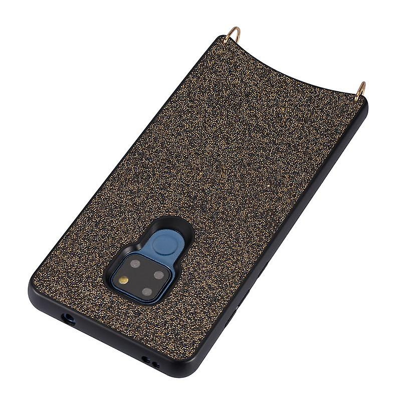 CaseGate phone chain for Huawei Mate 20 phone chain case cover - Necklace case with Golden Design