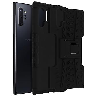 Shockproof Stand case, Backcover Samsung Galaxy Note 10 Plus & Kickstand - Black
