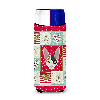 Cornish Rex Cat Michelob Ultra Hugger for slim cans