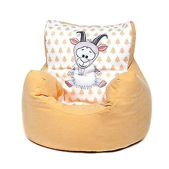 Yellow Goat Childrens Character Filled Beanbag Kids Bean Bag Chair Bedroom