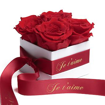 Roses Box White Eternal Roses Durable 3 Years Red Je t'aime Gift