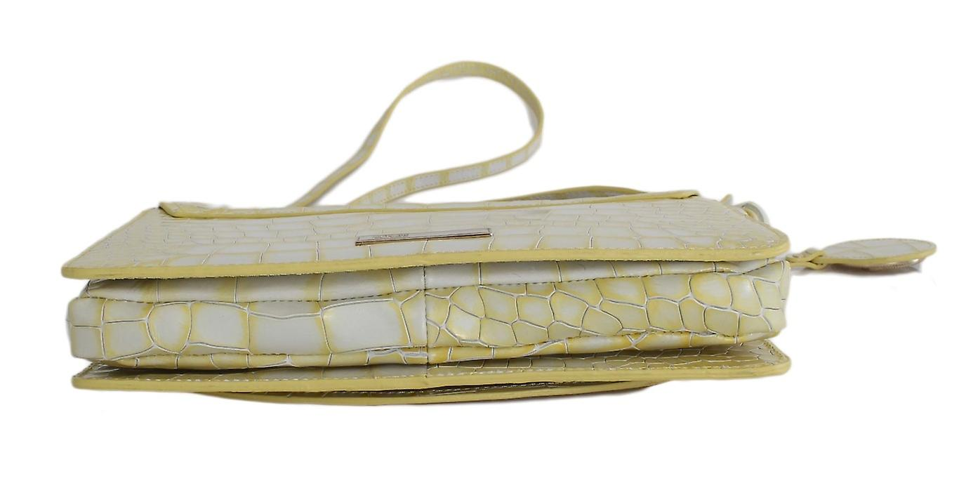 Yellow Leather Hand Shoulder Bag