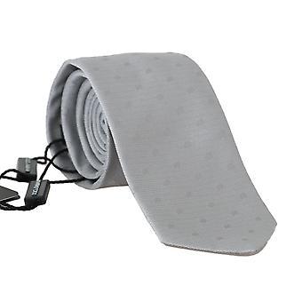 Dolce & Gabbana šedá hodváb Polka Dot tlač kravata