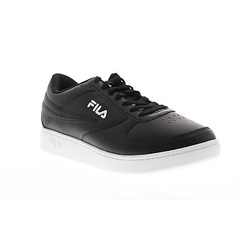 Fila A basso Uomo Nero Pizzo Sintetico Prato Up Basso Top Sneakers Scarpe