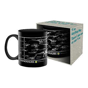 Smithsonian - dinosaur skeleton ceramic mug