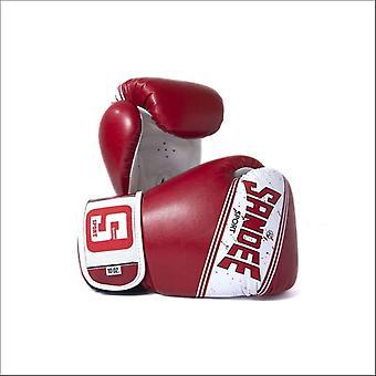 Sandee sport 2 toni pu guanti da boxe - rosso bianco