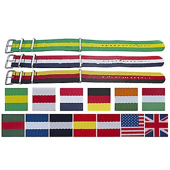 N.a.t.o zulu g10 style watch strap flag pattern