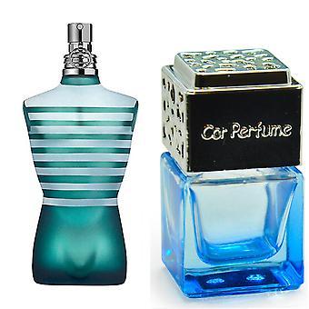 Jean Paul Gaultier Le Mies Hänelle innoittamana Tuoksu 8ml sininen pullo kromi kansi auton ilmanraikastin vent clip