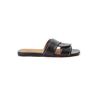 Chloé Chc20s27391001 Women's Black Leather Sandals