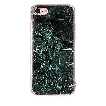 Mörkgrön marmor- skal till iPhone 7