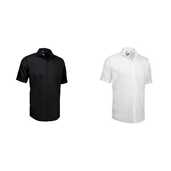ID Mens Poplin Shirt Short Sleeve Modern Fit