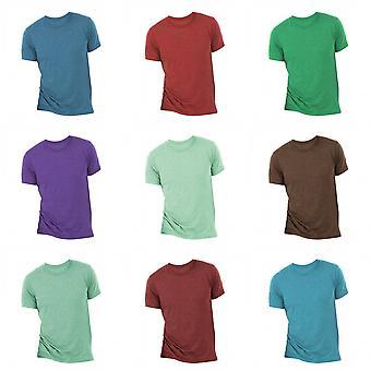 Kangas miesten Triblend miehistön kaulan vain lyhythihainen t-paita