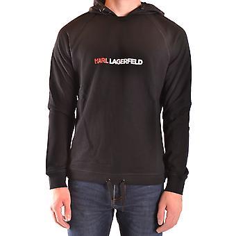 Karl Lagerfeld Ezbc217003 Männer's schwarze Baumwolle Sweatshirt