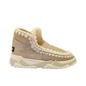 Mou Eskimotrainerbeige Women's Beige Leather Ankle Boots