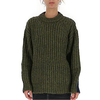 See By Chloé Chs19wmp20560920 Women's Blue/green Wool Sweater