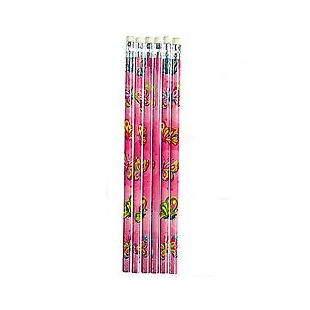 6 Butterfly Pencils for Kids Party Bags