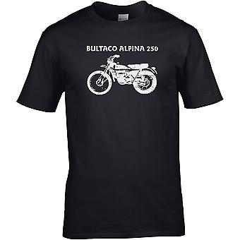 Bultaco Alpina 250 Classic MX - Motorcycle Motorbike Biker - DTG Printed T-Shirt